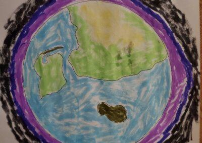 Distance Art CJK Earth in Process